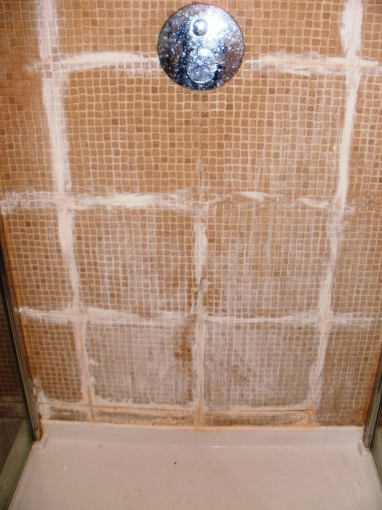 Ceramic Shower Cubicle Grout Haze Before