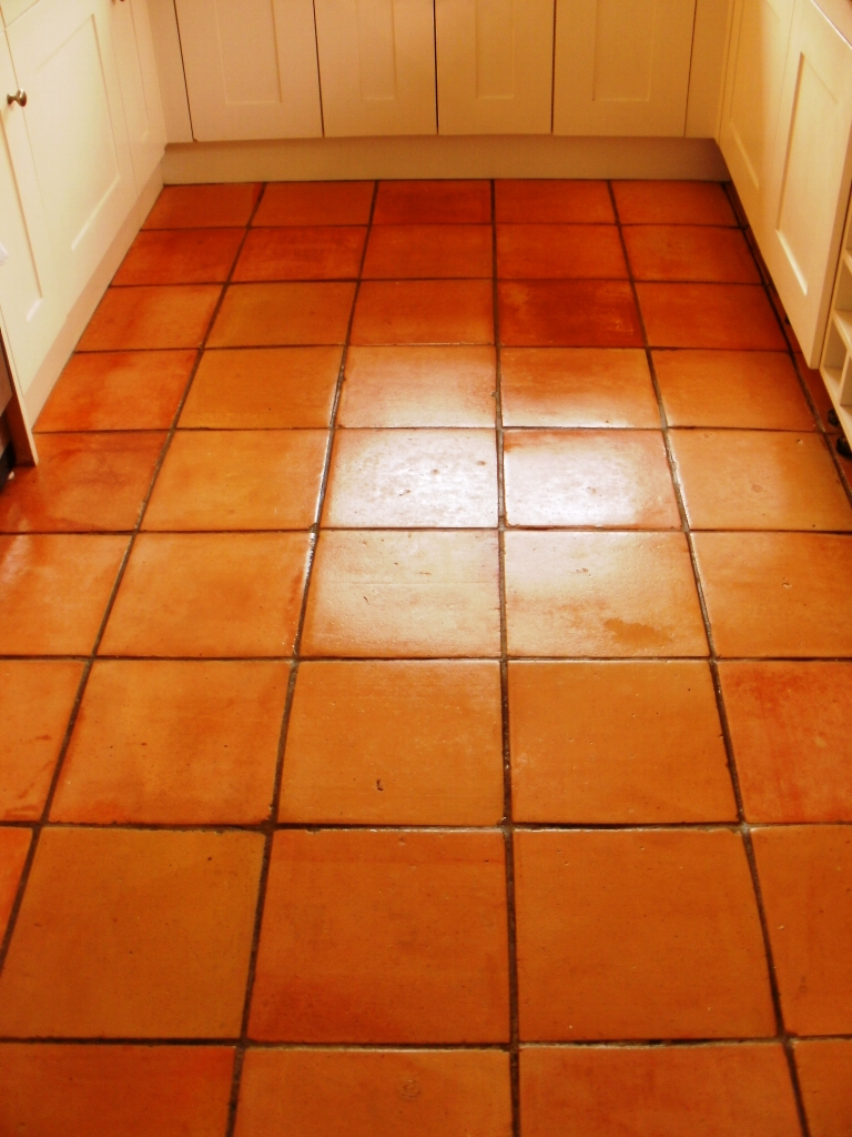 Terracotta Tile After Cleaning in Tooting