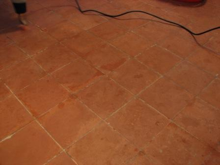Quarry Tile Kitchen Floor Before