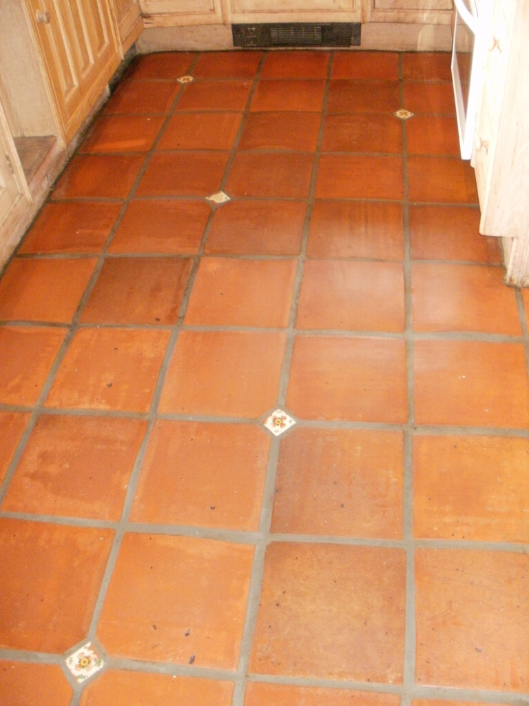 Terracotta Floor Tile Restoration In Clapham Sw9 Central