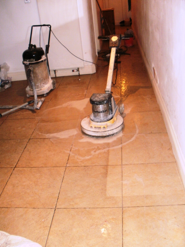 how to clean ceramic tile with buffer