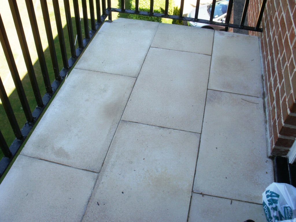 Cleaning A Limestone Tiled Balcony Stone Cleaning And