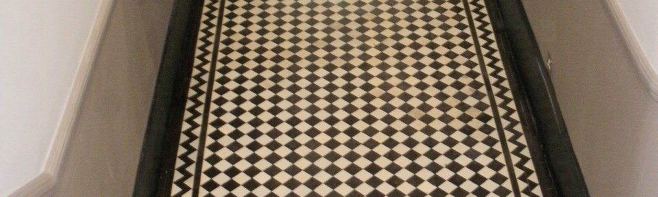 Victorian Hallway Tile Restoration in London W2