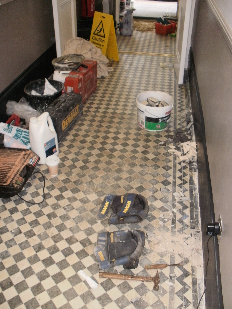 Restoration central london tile doctor victorian tile before cleaning in londong doublecrazyfo Gallery