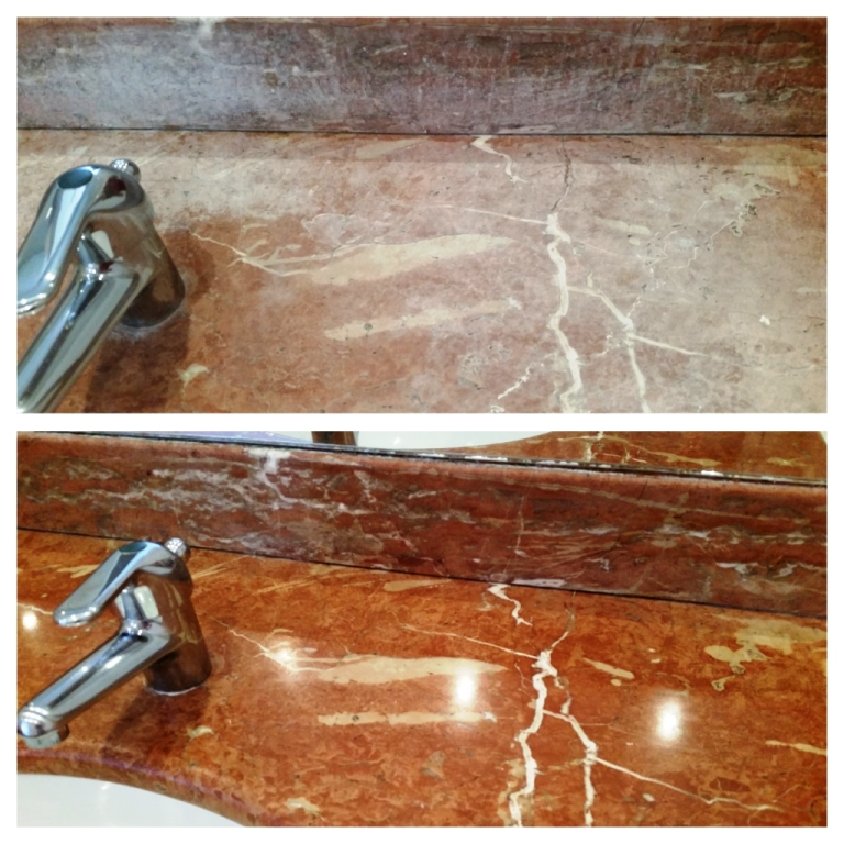 Tile Cleaning Putting The Shine Back On A Marble Bathroom Countertop