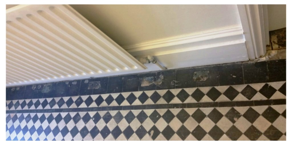 York Pattern Victorian Tiled Hallway Restored In Wanstead E11