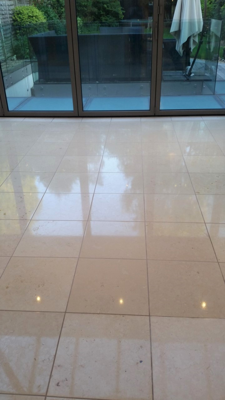 Limestone Floor After Polishing in Hammersmith