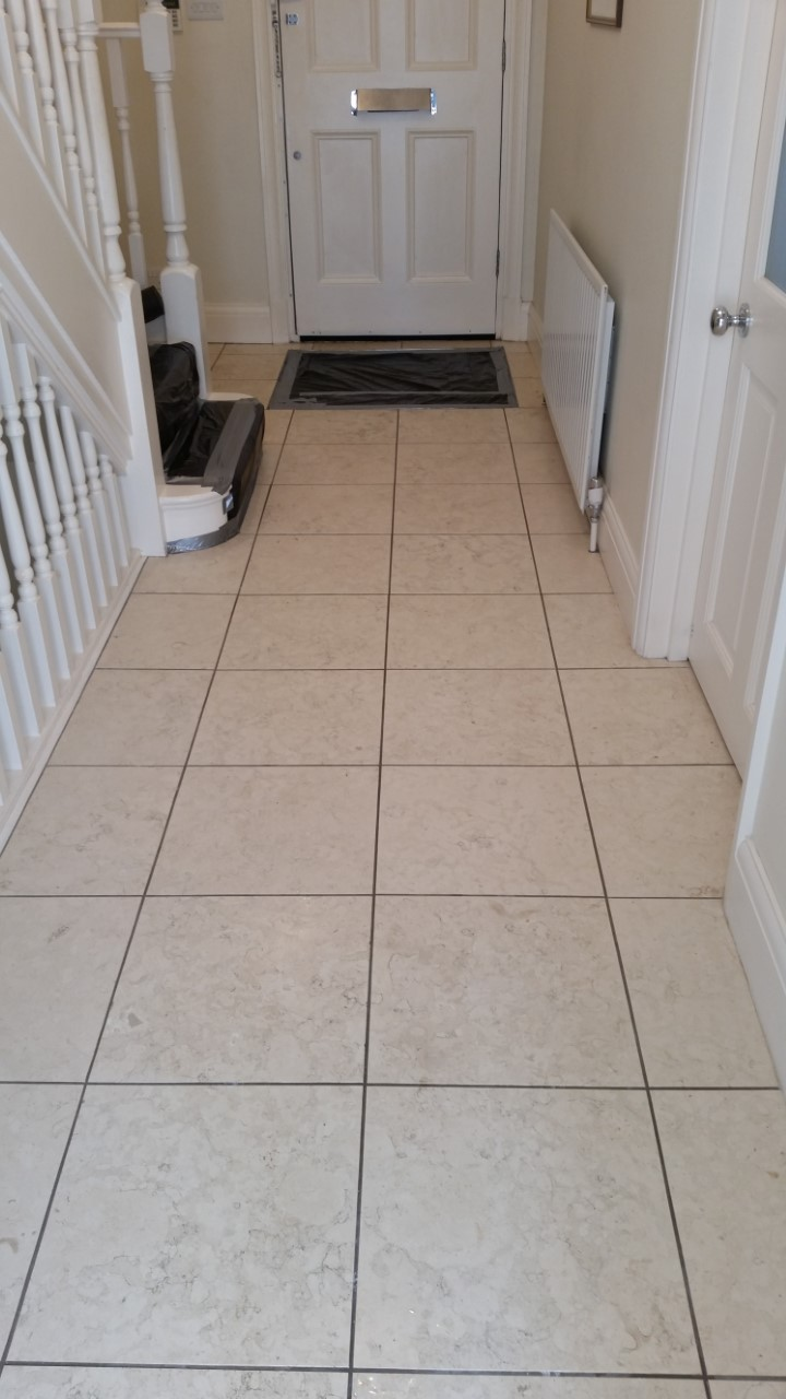 Limestone Floor Before Polishing in Hammersmith
