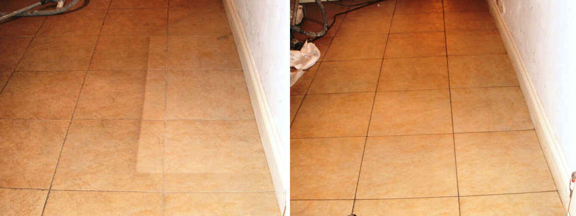 Ceramic Tiled Floor Cleaned in London W9