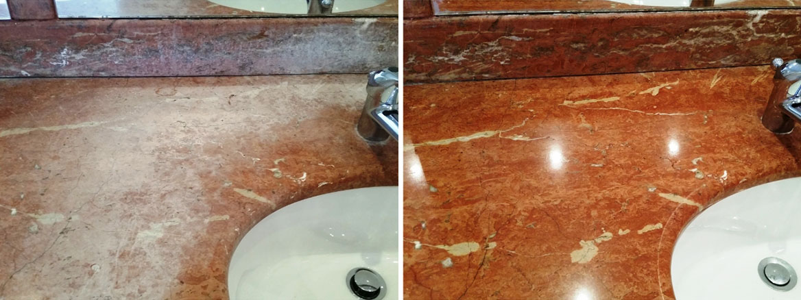 Refurbishing a Marble Onyx Countertop in Hampstead