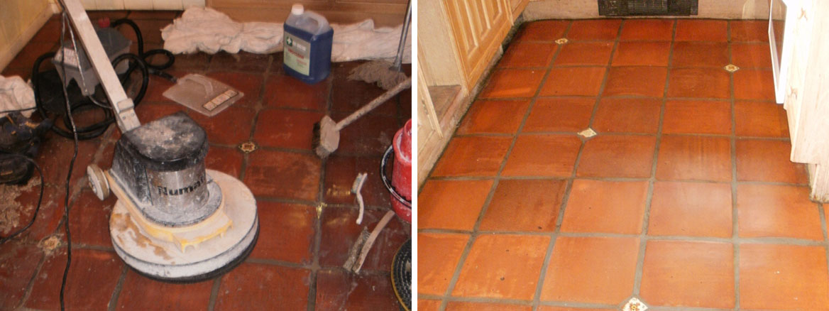 Terracotta Floor Tile Restoration in Clapham SW9