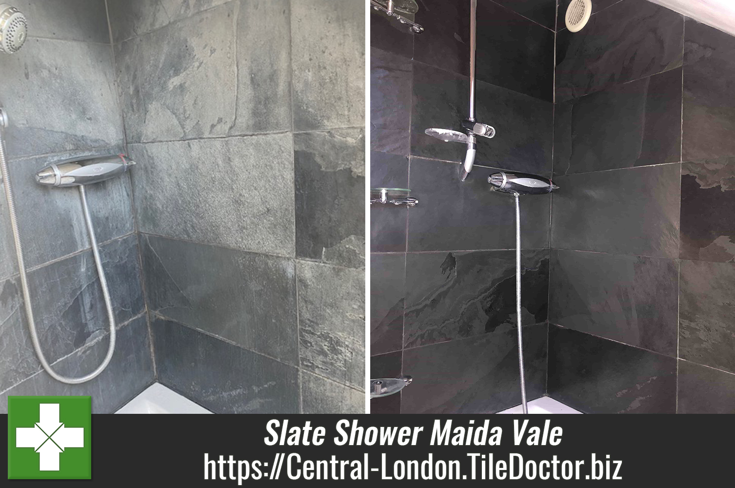 Slate Shower Wall Refurbished in Maida Vale W9 London